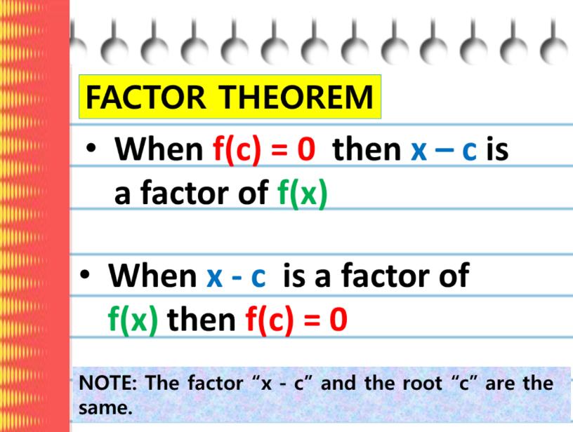 Factor-Theorem